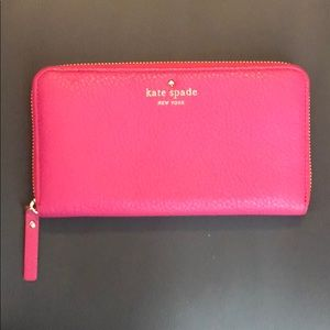 Kate Spade Cobble Hill Lacey Pink Leather Wallet